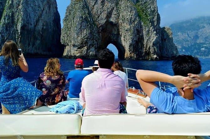 Premium Capri Boat Tour From Sorrento Max 8 People