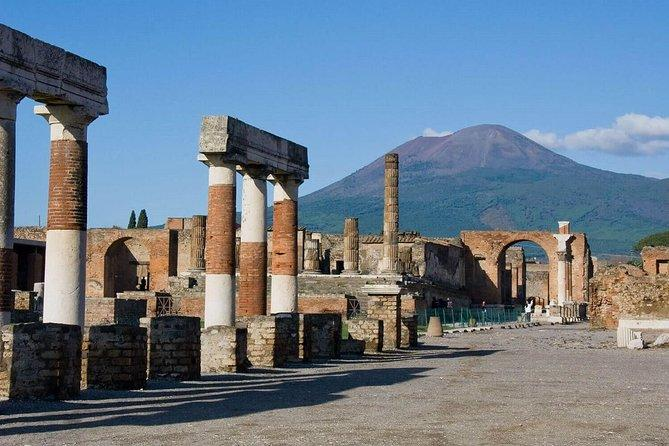 Pompeii Ruins & Wine Tasting with Lunch on Vesuvius with Private Transfer