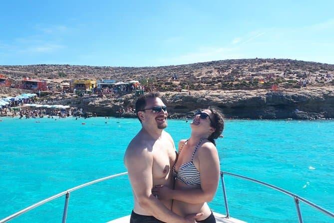Private Boat, Blue lagoon, Crystal lagoon Comino, Gozo Malta Ultimate Highlights