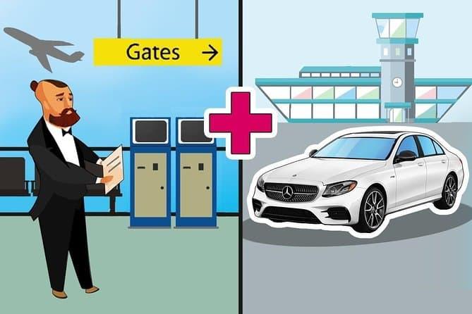 Private Arrival Car Transfer: Ciampino Airport Rome (CIA) to Hotel