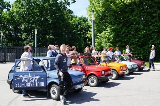 Retro Fiat Self-Drive Undisovered Tour in Warsaw